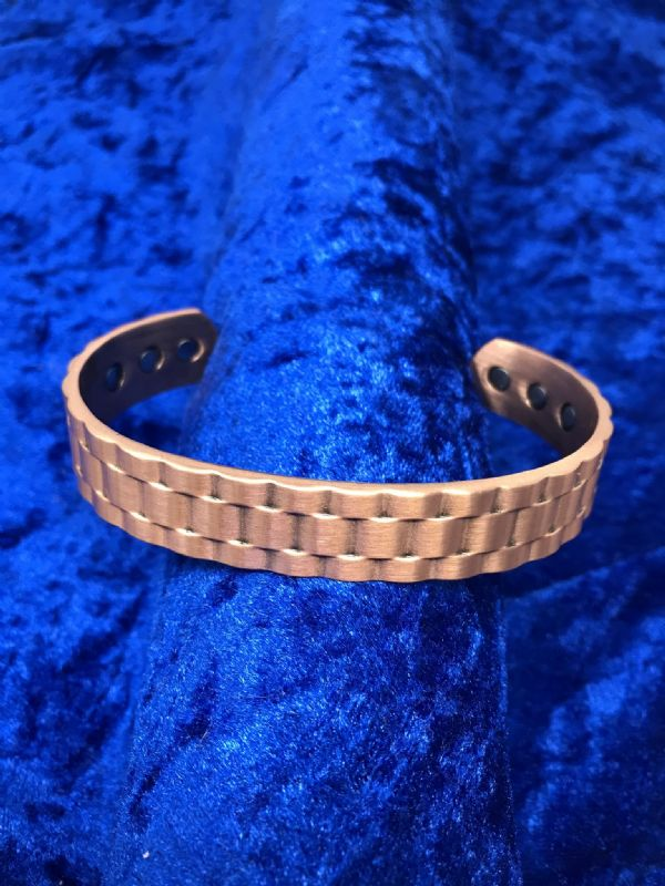 Pure Copper Patterned Bangle